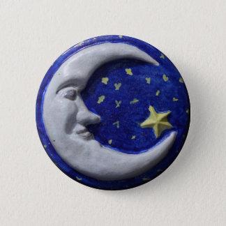 Crescent Moon Pinback Button