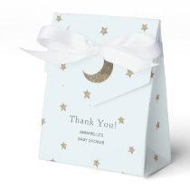 Crescent Moon & Stars Blue Baby Shower Gift Box