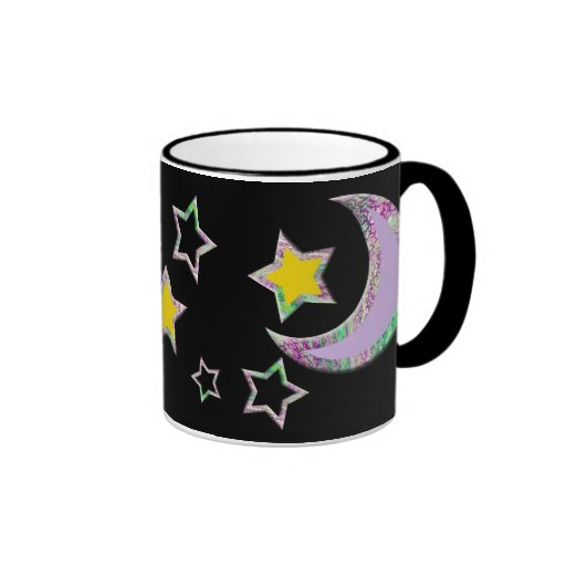 Crescent Moon & Stars Coffee Mugs