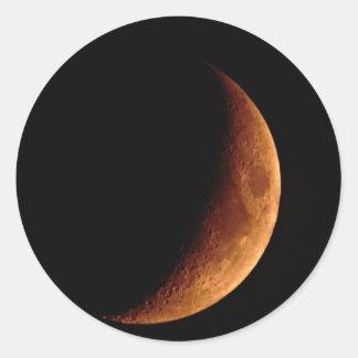 Crescent Moon Round Sticker