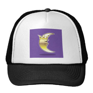 Crescent Moon with a Crown vector Trucker Hat