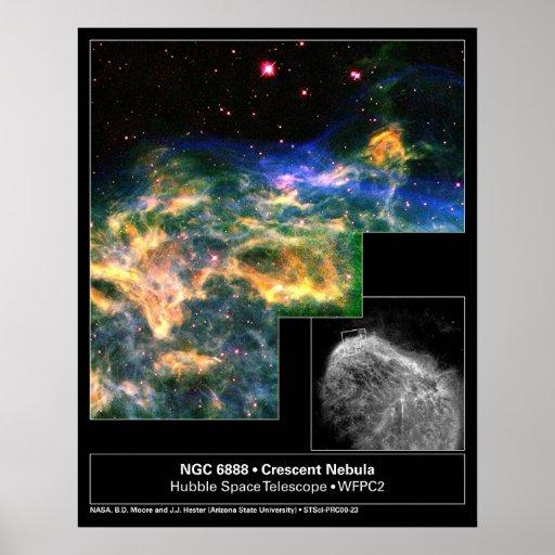 Crescent Nebula 6888 Hubble Telescope Poster