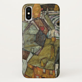 Crescent of Houses II, Island Town by Egon Schiel iPhone X Case
