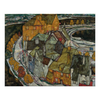 Crescent of Houses II (Island Town), Egon Schiele Posters