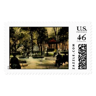 Crescent Park, Schenectady, NY c1910 Vintage stamp