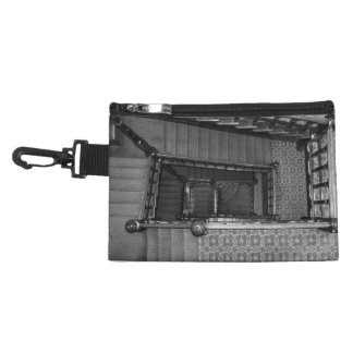 Crescent Stairwell Grayscale Accessories Bag
