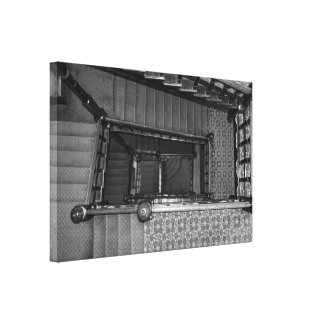 Crescent Stairwell Grayscale Canvas Print