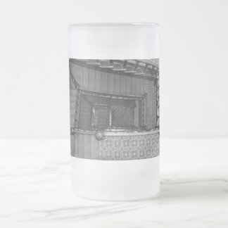 Crescent Stairwell Grayscale Frosted Glass Beer Mug