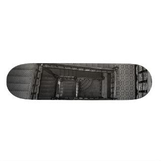 Crescent Stairwell Grayscale Skateboard Deck