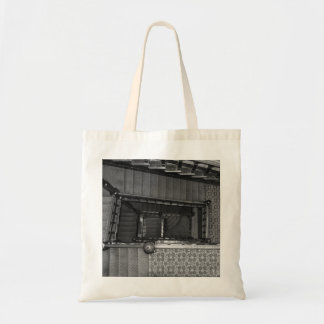 Crescent Stairwell Grayscale Tote Bag