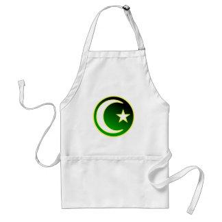 Crescent  & Star of Islam Aprons