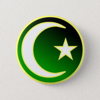 Crescent  & Star of Islam Button