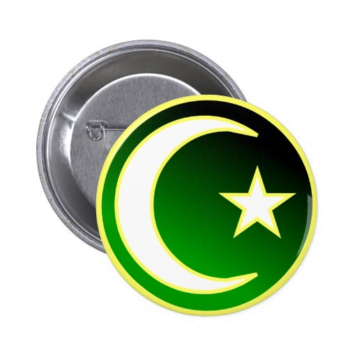 Crescent  & Star of Islam Buttons