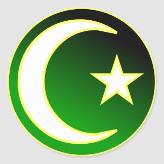 Crescent  & Star of Islam Classic Round Sticker
