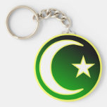Crescent  & Star of Islam Key Chain
