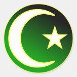 Crescent  & Star of Islam Sticker