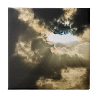 Crescent Sun during Solar Eclipse Ceramic Tiles