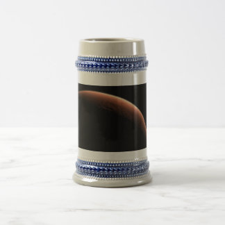 Crescent Sunrise on Mars the Red Planet Beer Stein