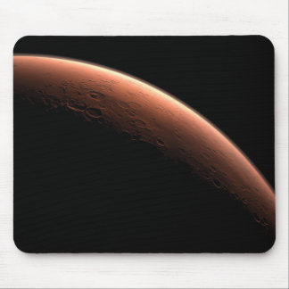 Crescent Sunrise on Mars the Red Planet Mouse Pad