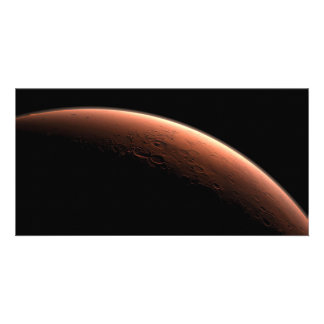 Crescent Sunrise on Mars the Red Planet Photo Card