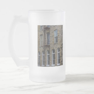 Crescent Wall Frosted Glass Beer Mug