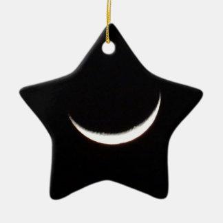 Crescent Winter Moon Ceramic Ornament