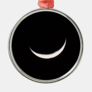 Crescent Winter Moon Metal Ornament