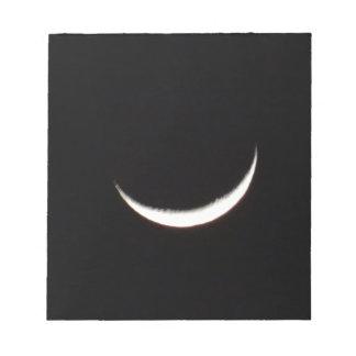 Crescent Winter Moon Notepad