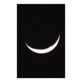 Crescent Winter Moon Stationery