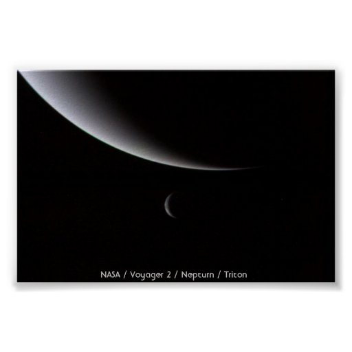 Crescents of Neptune and Triton Poster