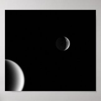 Crescents of Titan Dione Poster