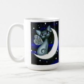 Cresent Cat, Fantaasy Fairy Kitty Coffee Mug