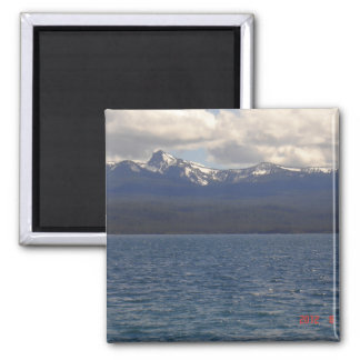 Cresent Lake 2 Inch Square Magnet