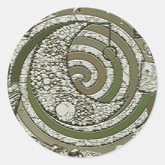cresent moon classic round sticker