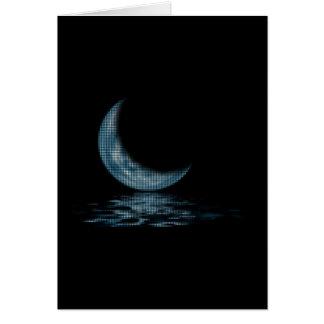 Cresent Moon Lake Dots Blue Card
