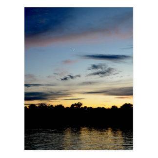 Cresent Moon Sunset Postcard