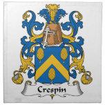 Crespin Family Crest Cloth Napkins