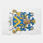 Crespin Family Crest Hand Towel