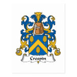 Crespin Family Crest Postcards