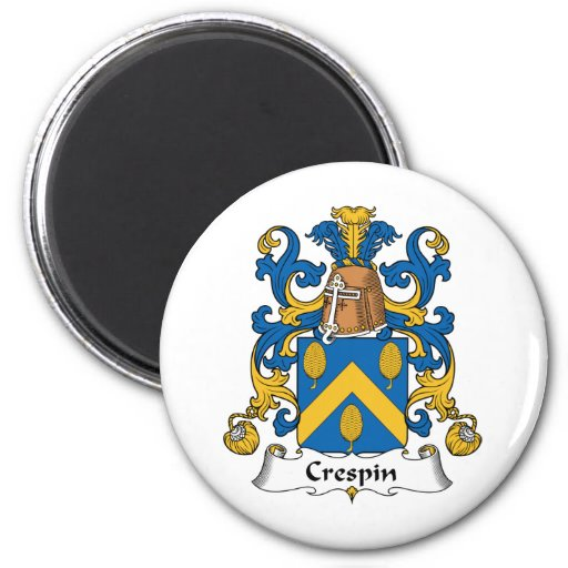 Crespin Family Crest Refrigerator Magnet