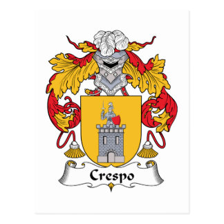 Crespo Family Crest Post Cards