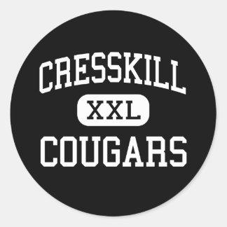 Cresskill - Cougars - High - Cresskill New Jersey Classic Round Sticker