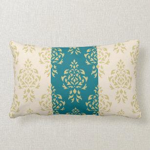Teal And Gold Pillows Decorative Amp Throw Pillows Zazzle