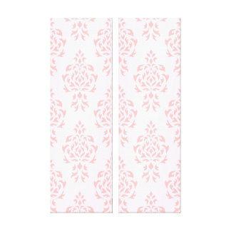Crest Damask Repeat Pattern Pinks Gallery Wrapped Canvas