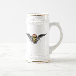 Crest Emblem *Personalized* by Street Justice 18 Oz Beer Stein