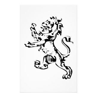 crest lion stationery