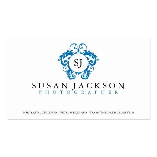 Crest Logo graphers Business Card