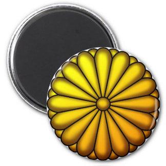 Crest of chrysanthemum fridge magnets