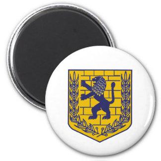 Crest of Jerusalem 2 Inch Round Magnet
