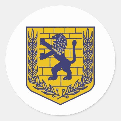 Crest of Jerusalem Classic Round Sticker